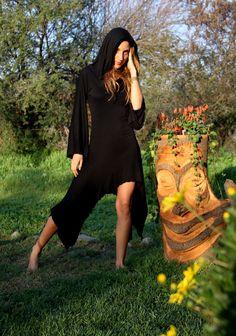BLACK DRESS MAGICIAN Versatile Cowl Neck used like Goddess