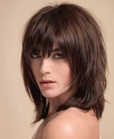 134 Best Choppy With Bangs Images In 2019 Medium Hair Styles