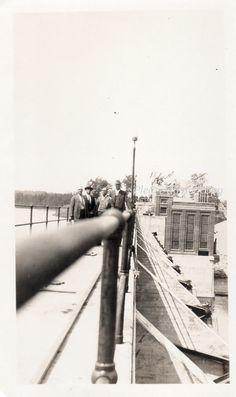 Vintage Snapshot Photo   abstract bridge crossing   by photopicker