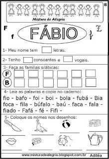 Brincando com os nomes -Fábio