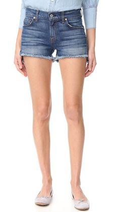 7 For All Mankind Cutoff Step Hem Shorts
