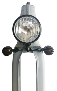 This Headlight and indicator bracket is the perfect way to finish your Custom Street Cub build. Honda Cub, C90 Honda, Moped Bike, Scooter Motorcycle, Cafe Racer Bikes, Bike Art, Mini Bike, Bicycle Accessories, Bike Life