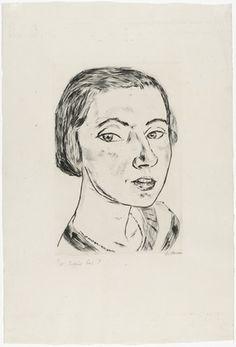 Max Beckmann - Bildnis Frau Parcus I - 1921