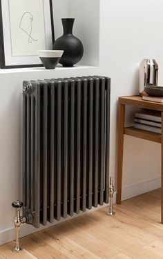Traditional Column Radiators (Steel) - not Cast Iron to heat rooms quicker and last longer. Georgian Homes, Victorian Homes, Traditional Radiators, Column Radiators, Interior And Exterior, Interior Design, Flat Ideas, Wall Brackets, Ideal Home