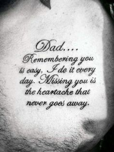70 Dad Tattoos for Men – Memorial Ink Design Ideas – Cute Tattoos Tattoo Tod, Tattoo Life, Diy Tattoo, Daddy Tattoos, Father Tattoos, Body Art Tattoos, New Tattoos, Tattoos For Guys, Tatoos