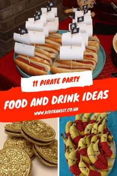theme birthday party food and drink ideas for a fun pirate children's bir. Pirate theme birthday party food and drink ideas for a fun pirate children's bir.Pirate theme birthday party food and drink ideas for a fun pirate children's bir. Dessert Party, Birthday Party Desserts, Boy Birthday Parties, Dessert Table, Birthday Ideas, Children Birthday Party Ideas, 1 Year Old Birthday Party, Kids Party Themes, Birthday Outfits