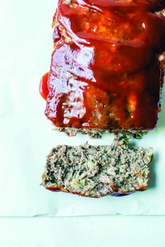 overhead shot of meatloaf and one piece sliced off. Bacon Meatloaf, Best Meatloaf, Turkey Meatloaf, Meatloaf Glaze, Turkey Bacon, Classic Meatloaf Recipe, Good Meatloaf Recipe, Italian Recipes, Beef Recipes