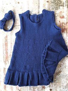 Anna - kjole med plissé-kant 1/2 år