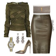 Olive Branch: Burberry Purse, YSL Skirt, Shoes Christian loboutin