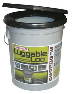 Amazon.com: Reliance Products Luggable Loo Portable 5 Gallon Toilet: Sports & Outdoors  I may have to check into this one. :~)
