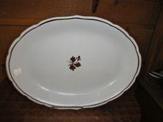 """Antique Alfred Meakin Tea Leaf Oval Platter 13 3/4"""""""