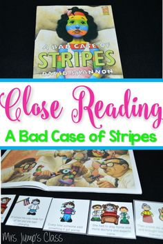 A Bad Case of Stripes lessons plan ideas.  Includes reading comprehension activities, retelling, writing response ideas, crafts and more!