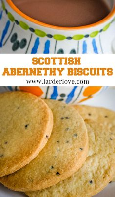 Traditional Scottish Abernethy biscuits are not too sweet and flavoured with caraway seeds, perfect with a nice cup of tea. #scottishbaking #abernethybiscuits #biscuits #cakesandbakes #larderlove