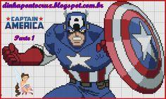 Captain America pattern by Dinha Ponto Cruz