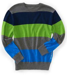 Kids' Skate Stripe Crew-Neck Sweater - PS From Aeropostale
