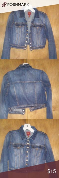 Selling this Denim Crop Jacket on Poshmark! My username is: shoron. #shopmycloset #poshmark #fashion #shopping #style #forsale #Highway Jeans #Jackets & Blazers