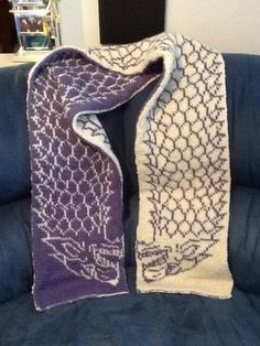 Game of Thrones, House Stark double knitting scarf. Does anybody know where one can find a pattern for this?