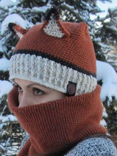 Crochet Fox Hat and Scarf