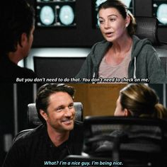 I said: are you all right. Oh Riggs <3 Grey's Anatomy Meredith Nathan 13x01