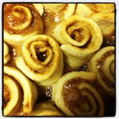 Cinnabon-Ish Cinnamon Rolls (Gluten-Free) VERY sweet and huge, but delicious.  Easily made dairy free with Earth Balance, vegan cream cheese and almond milk.  Could cut back on frosting and filling and still be super decadent. 600+ calories each!