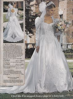 From a mid 90's JC Penney Bridal catalog | by houttb