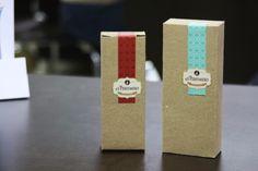 Diseño de empaque para fragancias,  el perfumero cajas hechas en kraft con un sticker adhesivo !!!