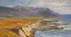 Ocean Side Seascape Oil painting original artwork by VaheArt
