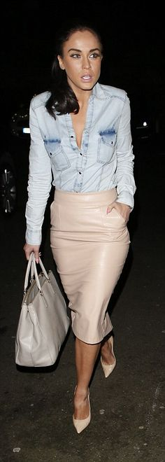 Popular look: Vicky was sure to dress up for her visit to Essex as she rocked a look favou...