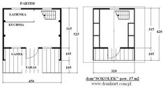 Domki letniskowe - SOKOŁEK Floor Plans, Alpine House, Country Houses, House Floor Plans