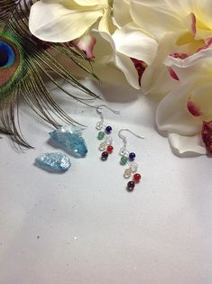 Beaded Earrings Crystal Healing Chakra Earrings Chakra Jewelry Spiritual Jewelry Healing Jewelry Christmas Gift