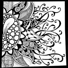 Sunflower themed Weekly Zentangle Challenge, Lilith X. MacRoberts North Carolina