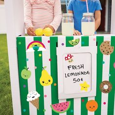 DIY Lemonade Stand idea: Jazz up your kids' lemonade stand with our sweet and when summer is gone simply remove and reuse the decals on their bedroom walls! Removable Wall Decals, Vinyl Decals, Wild Child, Little Books, How To Remove, Walls, Wall Decor, Kids Rugs, Paper