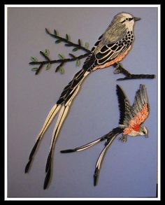 scissortail flycatcher - Quilling Cafe
