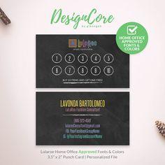 Lularoe Punch Card, Simple Chalkboard, Lularoe Reward Card, Home Office Approved, Personalized, Digital Files, Marketing, Dark, DCPLC004