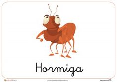 Fichas de animales e insectos: Hormiga Homeschool, Classroom, Christmas Ornaments, Holiday Decor, Crafts, Animals, Dual Language, Wood Ants, Insects