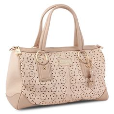 @Overstock - The front of this blush Connie satchel from Miadora is intricately detailed with a laser-cut floral pattern. A zipper closure, double handles, and a detachable shoulder strap top this lovely bag with functional style.http://www.overstock.com/Clothing-Shoes/Miadora-Connie-Blush-Laser-cut-Satchel/7217888/product.html?CID=214117 $67.99