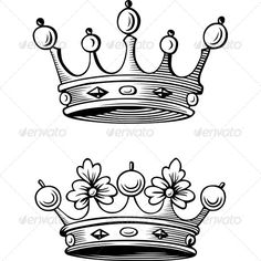 Crowns  #GraphicRiver         Two crowns. The image is a vector illustration and can be used for different compositions. The image is an .eps file and you will need a vector editor to use this file, such as Adobe Illustrator.     Created: 29October13 GraphicsFilesIncluded: VectorEPS Layered: No MinimumAdobeCSVersion: CS Tags: authority #corona #coronation #crown #crowning #glory #golden #illustration #king #kingdom #luxury #nobility #prince #princess #queen #rich #royal #royalty #success…