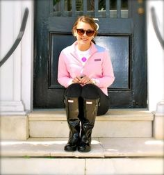 Preppy...too cute (want those things in my size too! Vineyard Vines Shep Shirt, Hunter Boots, etc.)