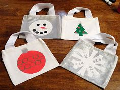 Decorate canvas bags to use as giftbags!!!!