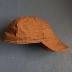 Mechanics Cap in Brown Canvas - Circle A Brand