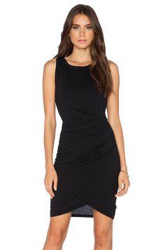 Bobi Supreme Jersey Ruched Mini Dress in Black   REVOLVE