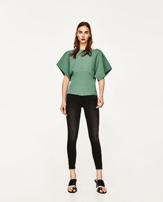 ZARA - FEMME - JEAN TAILLE NORMALE DÉCHIRÉ Jeans, Normcore, Tops, Women, Style, Fashion, Human Height, Swag, Moda