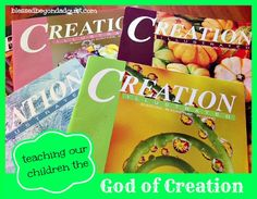 Teaching our Children the God of Creation!  I am so excited about his resource!  Perfect for nature studies, too!