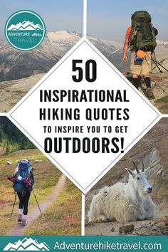 If you love hiking and exploring the outdoors but need some extra inspiration to set aside the never-ending to-do list, we have put together 50 Inspirational Hiking Quotes to Inspire You To Get Outdoors.#hiking #quotes #adventurequotes #inspirationalquotes #hike #hikingquotes Hiking Quotes, Travel Quotes, Adventure Quotes, Adventure Travel, Franklin Falls, Winter Hiking, Get Outdoors, Round Trip, Wonders Of The World