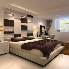 Interesante #diseno de #paredes e #iluminación, combinado con colores niveles y texturas. Ve mas #ideas para #remodelar en nuestro blog: www.arquitecturacreativa.blogspot.com Siguenos también...