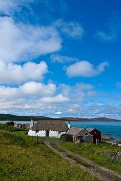 Old Cottage at the Coast, Isle of Benbecula,Scotland