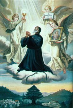 24 July – St Charbel Makhluf O. Monk, Priest, Hermit, Miracle Worker – The holy monk whose dead body radiated white light – May 1828 at Beka-Kafra, Lebanon as Joseph Zaroun Makhlouf – 24 December 1898 at Annaya of natural causes). St Charbel was Catholic Books, Catholic Prayers, Catholic Saints, Roman Catholic, Catholic Answers, Angelus, Happy Feast Day, St Charbel, Agony In The Garden