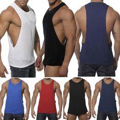 Mens Gym Sleeveless Vest Bodybuilding Muscle T Shirt Stringer Workout Tank Top Running Tank Tops, Gym Tank Tops, Workout Tank Tops, Athletic Tank Tops, Muscle T Shirts, Gym Style, Men's Style, Gym Shirts, Gym Men