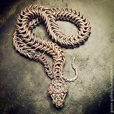 Кольчужная змея, колье - змея,змеиное колье,змеиное украшение,уроборос