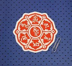 Om Mani Padme Hum Symbol  Bumper Sticker